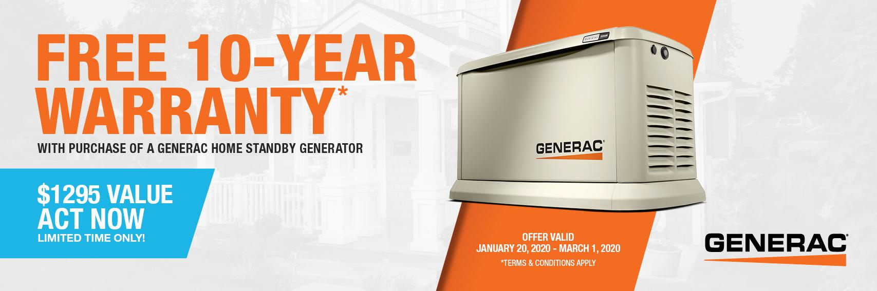 Homestandby Generator Deal | Warranty Offer | Generac Dealer | Barrie, ON